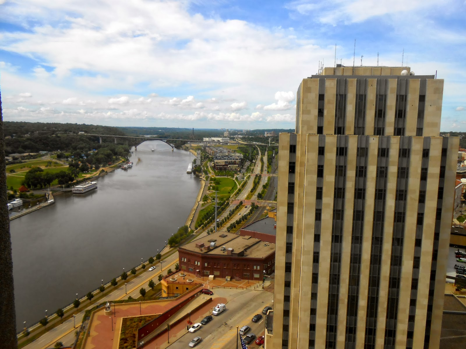 View of St. Paul Minnesota and the Mississippi River