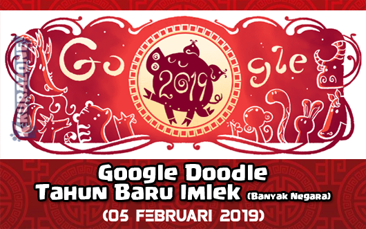 Google Doodle - Tahun Baru Imlek 2570 (Banyak Negara) - 05 Februari 2019
