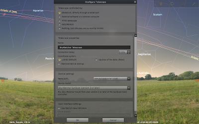 mount profile in Stellarium on a Mac