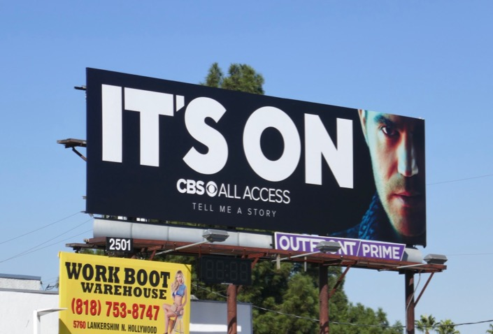 Its On CBS All Access Tell Me A Story season 2 billboard