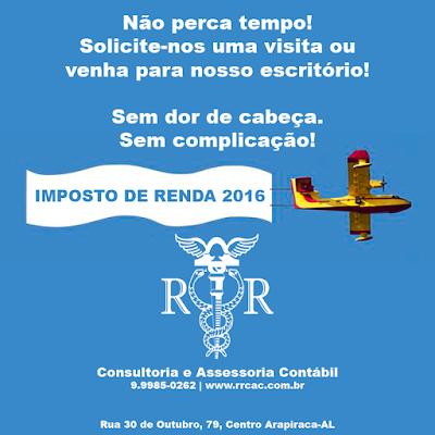 IMPOSTO DE RENDA EM ARAPIRACA