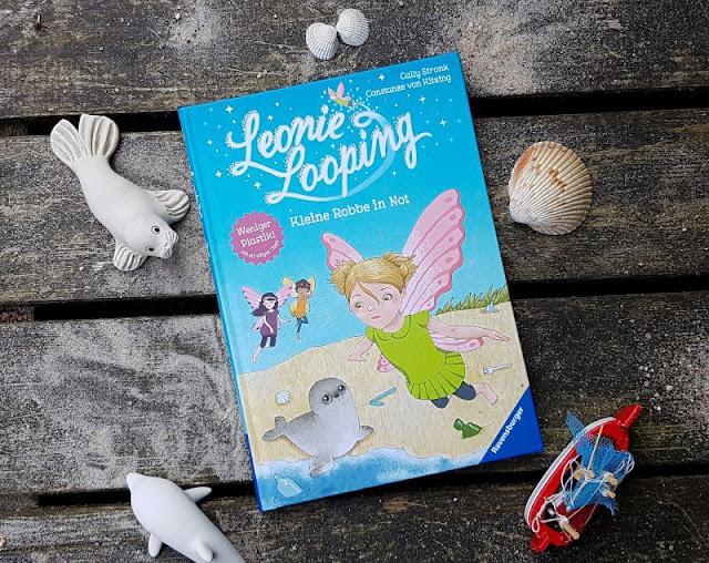 """Heute ein Buch! Die elfenstarke Umwelt-Kinderbuch-Serie """"Leonie Looping"""" und das Thema """"Müll im Meer"""". Im siebten Band """"Kleine Robbe in Not"""" geht es um die Verschmutzung der Meeresumwelt durch Plastikmüll."""
