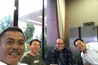 Ahok, Charles Honoris, Prasetyo Edi Marsudi, dan Yunarto Wijaya