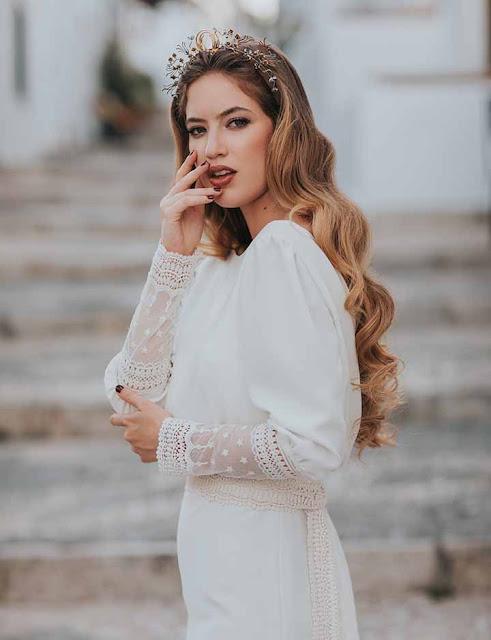 peinado 2020 novias sencillas