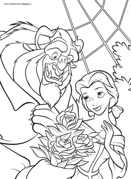 La bella e la bestia disegno da colorare n 3 for La bella e la bestia immagini da colorare