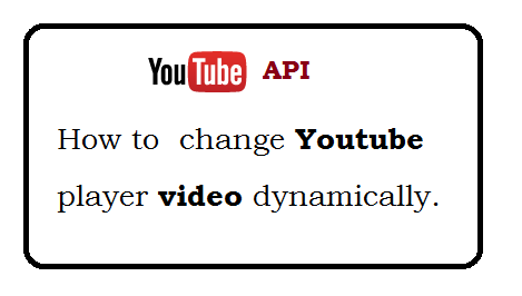 How to Dynamically change Youtube Player videoID