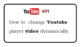 How to Dynamically change Youtube Player video