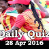Daily Current Affairs Quiz - 28 Apr 2016