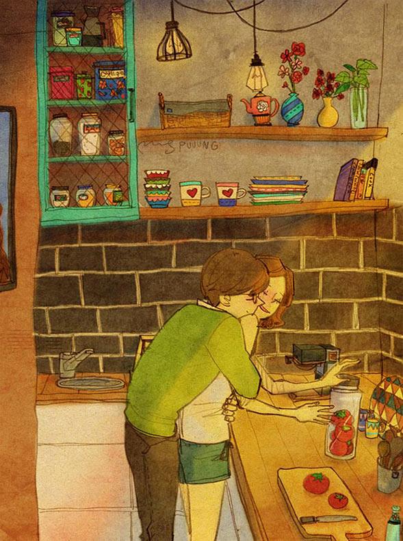 Ilustraciones conmovedoras revelan que el amor esta en las pequeñas cosas