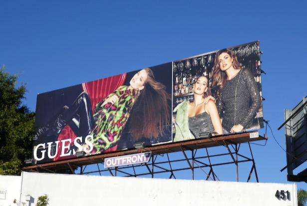 Guess FW19 billboard