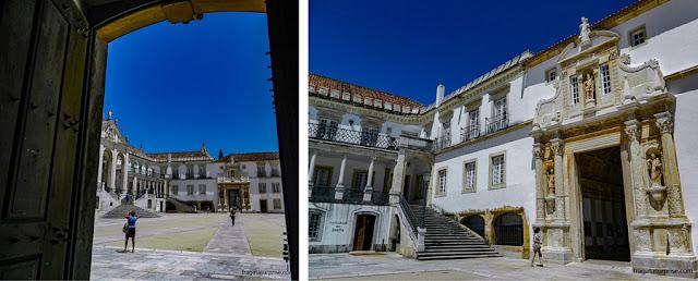 O Pátio das Escolas e a Porta Férrea da Universidade de Coimbra