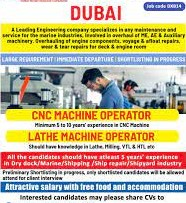 Modern Plastic Industry L.L.C, Dubai Recruitment CNC Operators Cum Programmers | Company Will Provide Free Visa And Accommodation Along With Medical Insurance
