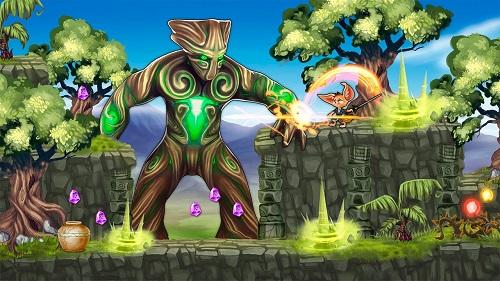 Fin & Ancient Mystery: platformer adventure Gameplay