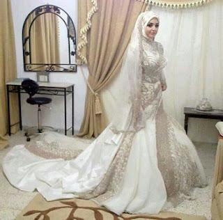 Rancangan Model Baju Pengantin Muslim Modern