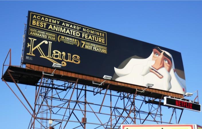 Klaus Oscar nominee billboard