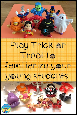 Practice the social routines of Halloween to familiarize your students.