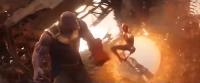 avengers infinity war spiderman vs thanos