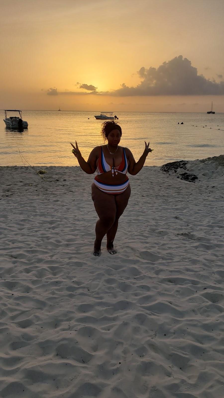 sunset at 7 mile beach negril jamaica