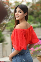 Rhea Chakraborty in Red Crop Top and Denim Shorts Spicy Pics ~  Exclusive 196.JPG