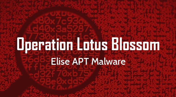 Operation Lotus Blossom APT - Elise Malware