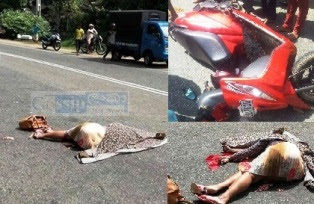 Women Killed In bike accident in Balavinna