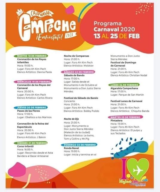 programa carnaval campeche 2020