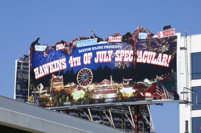 Hawkins 4th of July Stranger Things 3 billboard