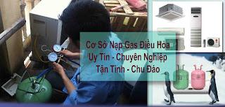 Nạp gas điều hòa R22, R410A, R32 tại Hà Nội