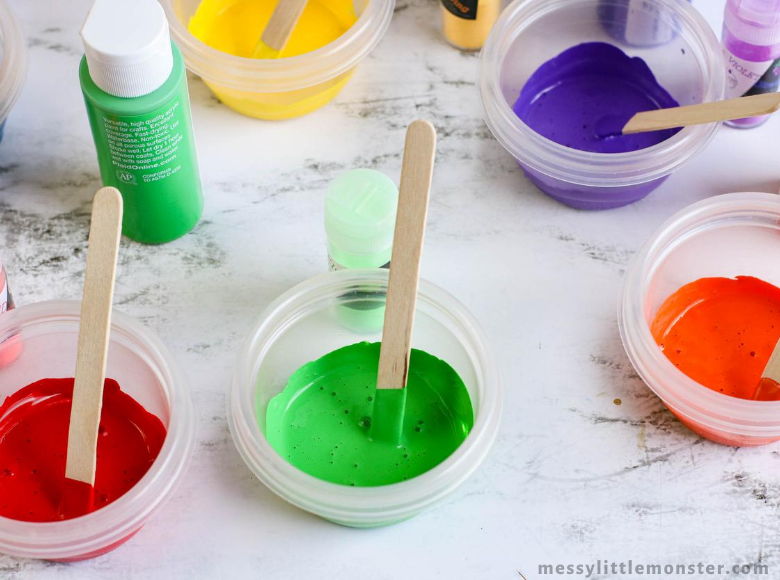 DIY glow in the dark paint