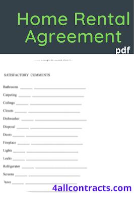 Home rental agreement format pdf