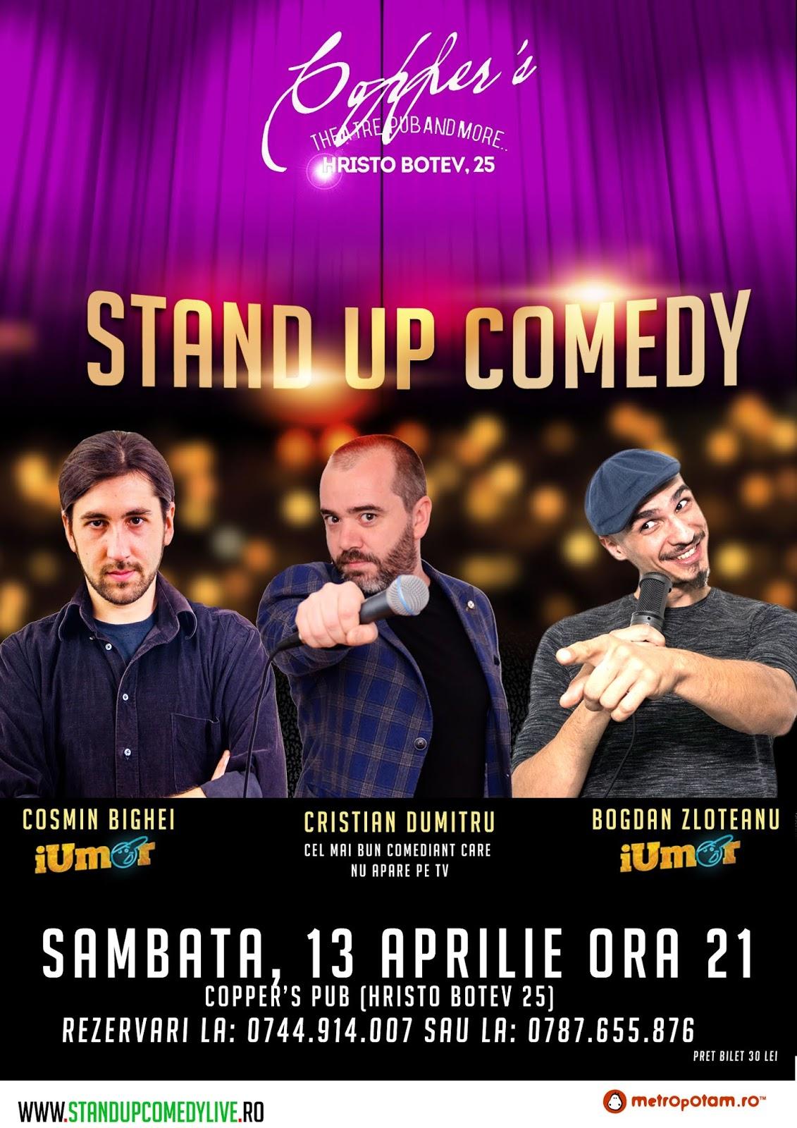 Stand-Up Comedy Bucuresti Sambata 13 Aprilie 2019