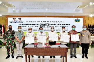 Kepala Daerah se-Kepulauan Nias dan Pemprov Teken Kesepakatan Optimalisasi Penanganan Covid-19