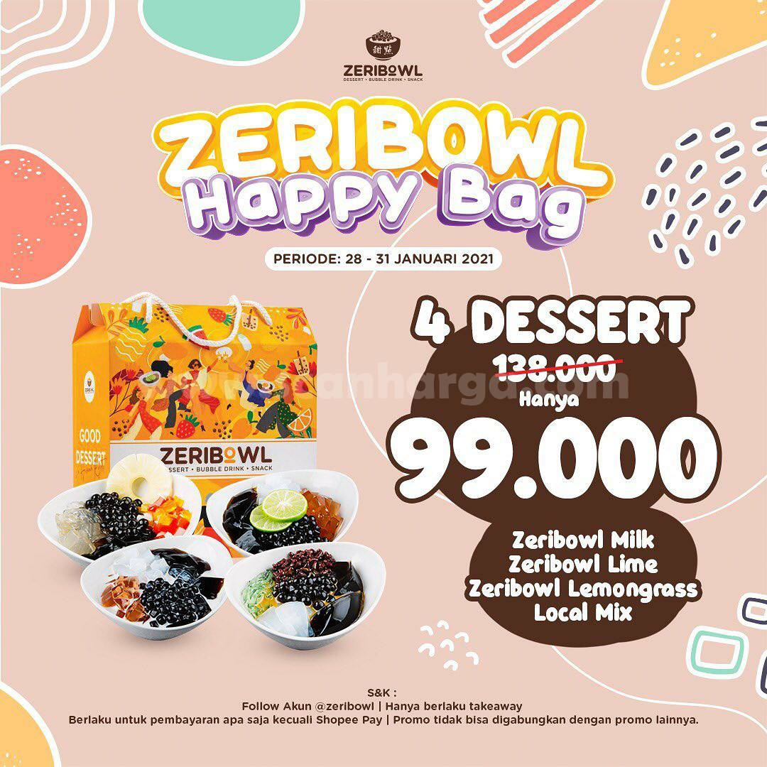 ZERIBOWL Promo Spesial Happy Bag – 4 Dessert Harga cuma Rp 99.000