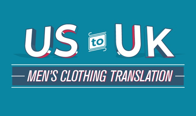 US to UK men's clothing translation