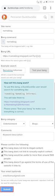 Submit Blog ke DuckDuckGo