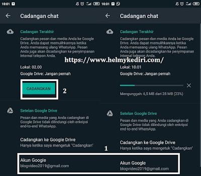 Cara backup chat whatsapp ke Googledrive2