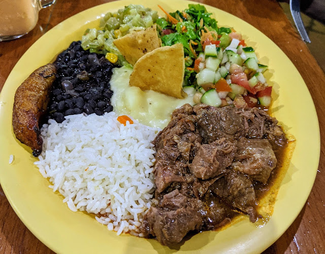 Plate of Costa Rican Food