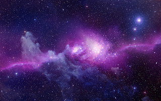 Heelal achtergrond met nebula