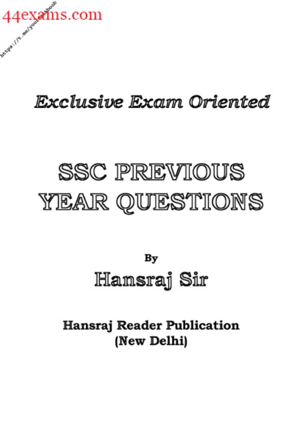 SSC-Previous-Year-Questions-By-Hansraj-Sir-PDF-Book
