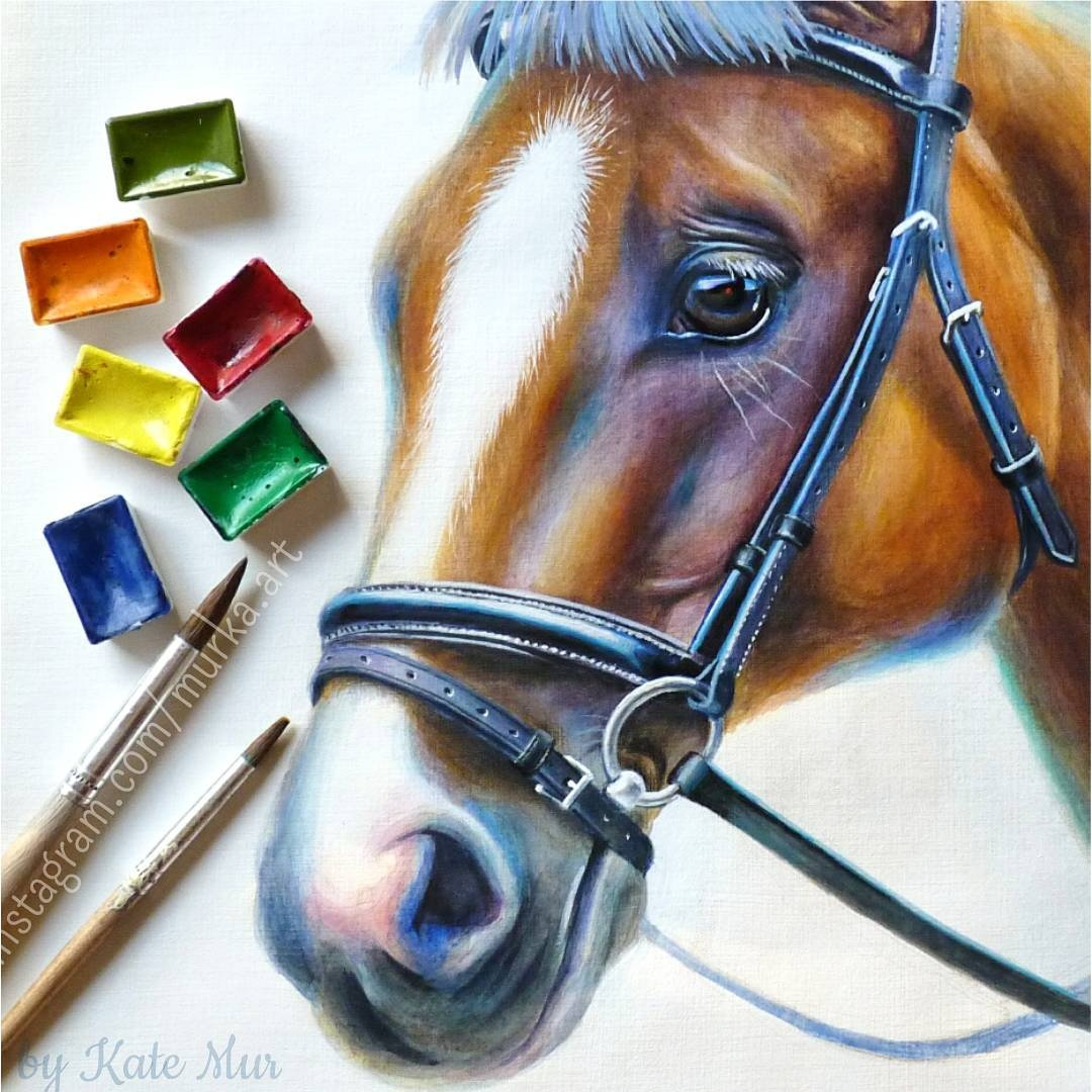 03-Horse-Kate-Mur-Fantasy-and-Realism-in-Paintings-and-drawings-of-animals-www-designstack-co