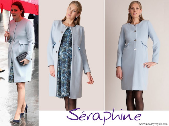 Kate Middleton wore Seraphine Natasha Cashmere Blend Maternity Coat