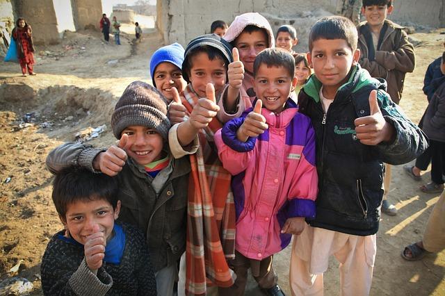 Smiling Afghan Children