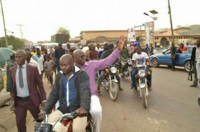 Again, Governor Fayose Spotted Riding Okada In Ekiti. (See Photos )
