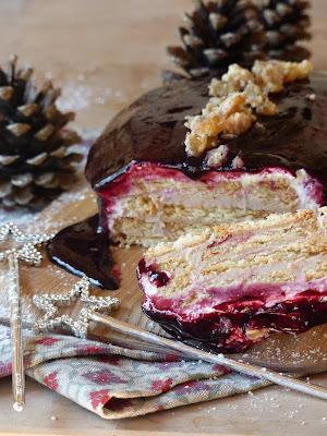 Gâteau crémeux Marron Cassis