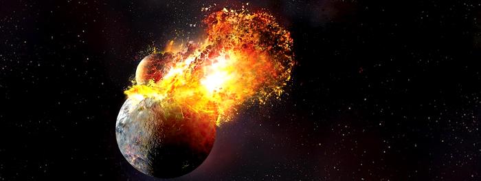 Theia colidiu com a Terra duas vezes para formar a Lua