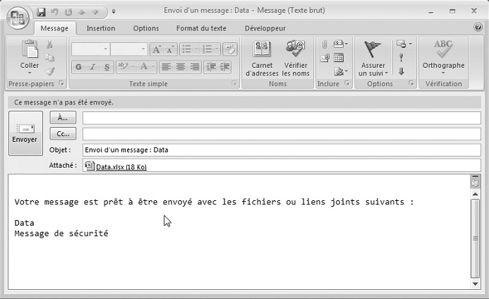 Envoyer un fichier par mail automatiquement
