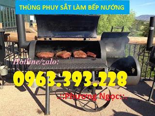 Thùng phuy sắt đã qua sử dụng, thùng phuy sắt làm bếp nướng, thùng phuy làm bàn  Thung%2Bphuy%2Blam%2Bbep%2Bnuong