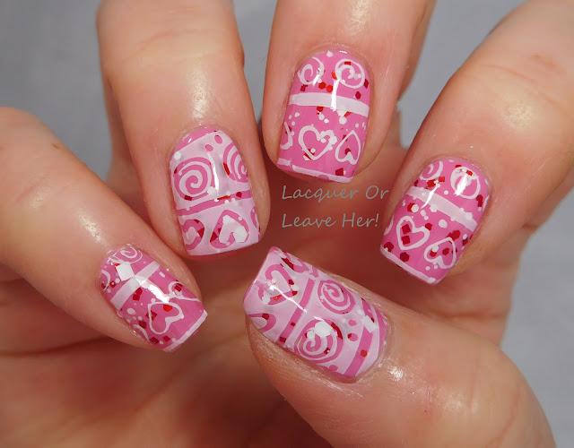 Sweet Valentine with messy mansion love spellbound nails howler zoya eden