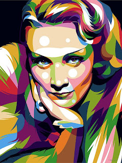 Marlena Dietrich Art
