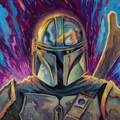 "The Mandalorian ""Mando"" Star Wars Fine Art Print by Rich Pellegrino x Gallery 1988"